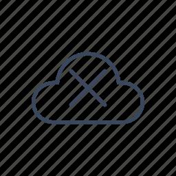 cloud, delete, remove icon
