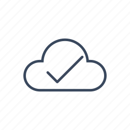 approve, cloud, complet, data, storage icon