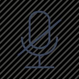 audio, microphone, mute, speak icon