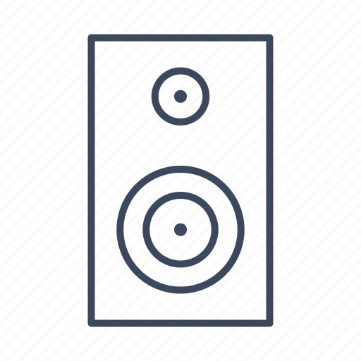 audio, electronics, music, sound, speaker icon