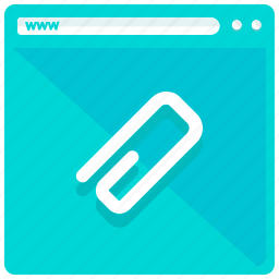 attachment, browser, internet, website icon