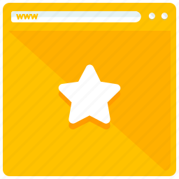 bookmark, browsing, favourite, mobile, star, web, webpage icon