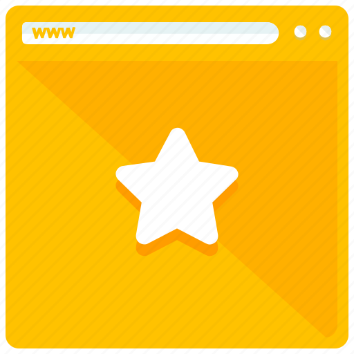 bookmark, browser, internet, website icon