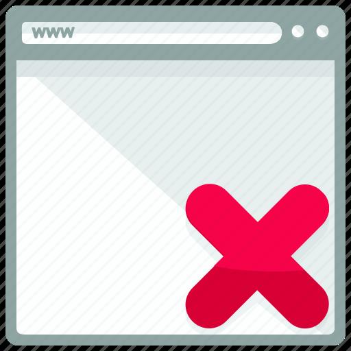 browser, cancel, delete, website icon