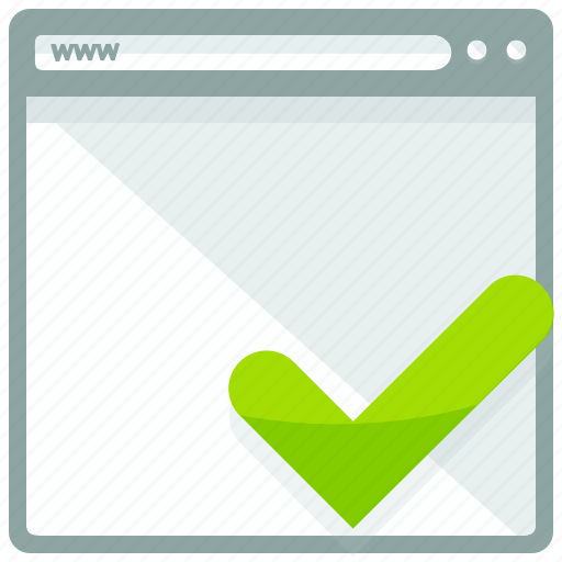approve, browsing, checkmark, confirm, mobile, web, website icon