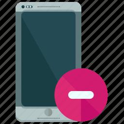 browser, delete, smartphone, website icon