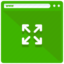 arrows, browser, browsing, expand, mobile, web, webpage icon