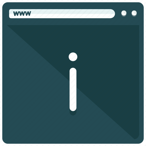 browser, information, webpage, website icon