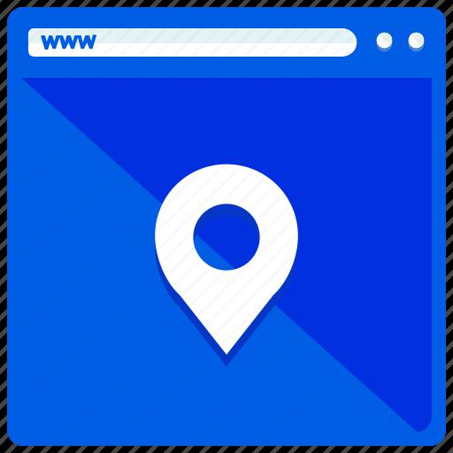 browser, internet, location, navigation, website icon