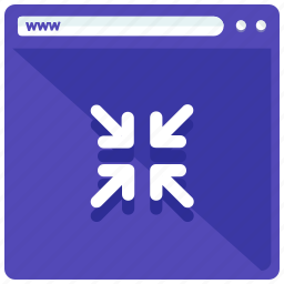 browser, internet, minimize, website icon