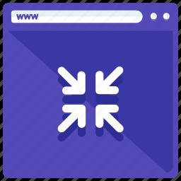 arrows, browser, browsing, minimize, mobile, web, webpage icon