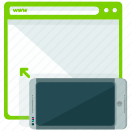 browser, browsing, landscape, mobile, screen, view, web icon