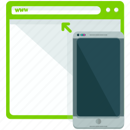 browser, browsing, mobile, portrait, view, web icon