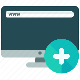 add, browser, computer, internet, website icon