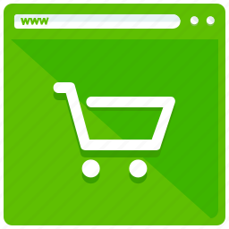 browser, internet, shopping, website icon