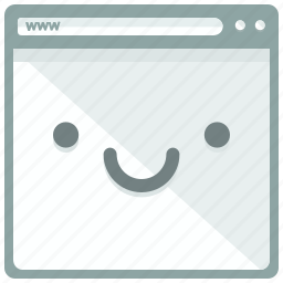 browser, browsing, emoticon, mobile, smile, web, webpage icon