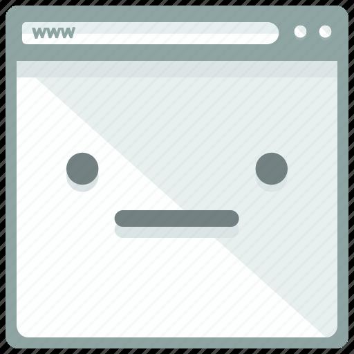 browser, browsing, emoticon, mobile, status, web, webpage icon