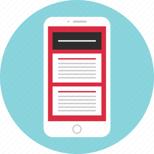 asbtract, design, mobile, ui, wireframe icon