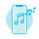 iphone x, iphonex, music, phone, ringtone, sound icon