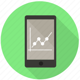 analytics, chart, diagram, finance, graph, mobile, monitoring icon