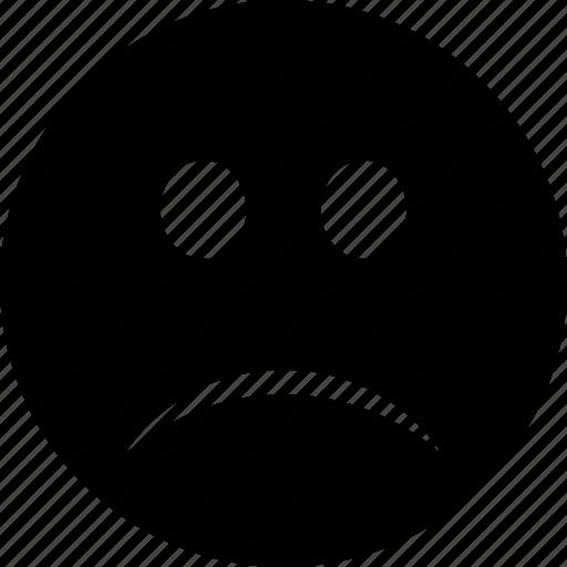 emoticon, emoticons, emotion, face, sad, shocked, smile, sorrow, unhappy, worried icon