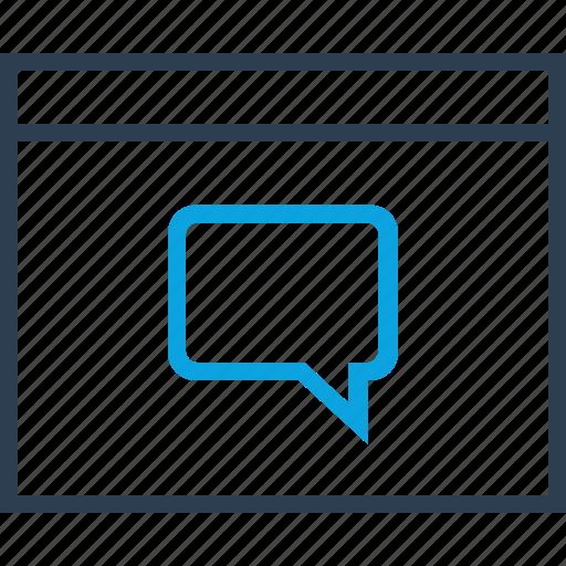 browser, bubble, chat, conversation, talk icon