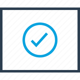 approved, check, good, mark, ok, wireframe icon