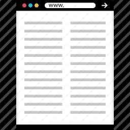 document, edit, mockup, online, web, write icon