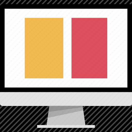 double, mockup, online, photo, web icon