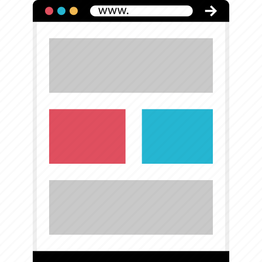 gallery, grid, mockup, online, web icon