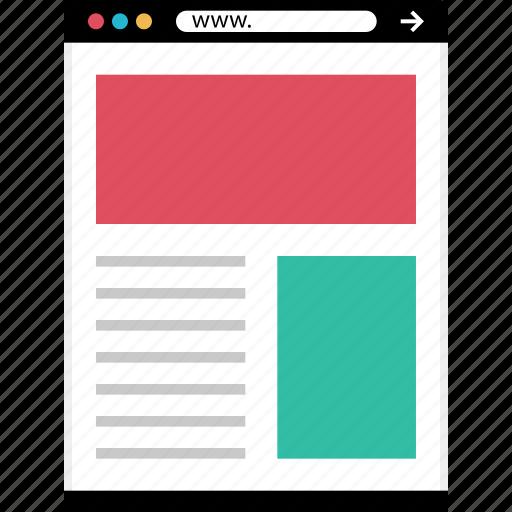 header, mockup, news, online, web icon
