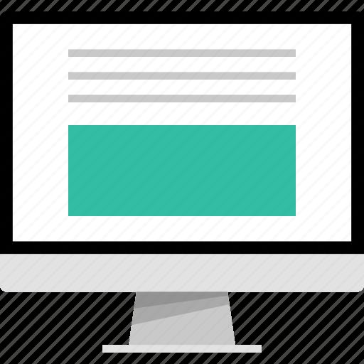 bottom, large, mockup, online, photo, web icon