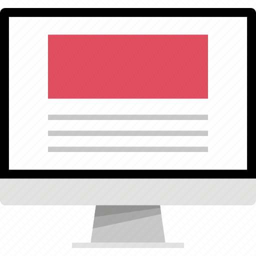 header, large, mockup, online, web icon