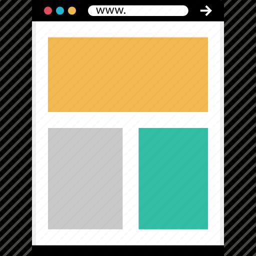 layout, mockup, news, online, web icon
