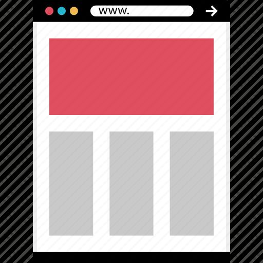 letter, mockup, news, online, web icon