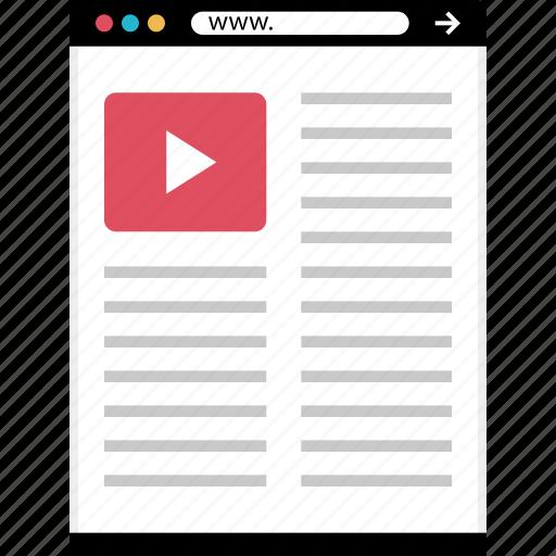 list, mockup, online, play, web icon
