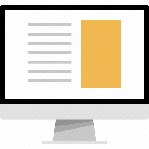 article, mockup, news, online, web icon