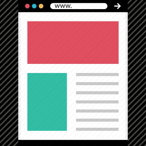 mockup, news, online, web icon