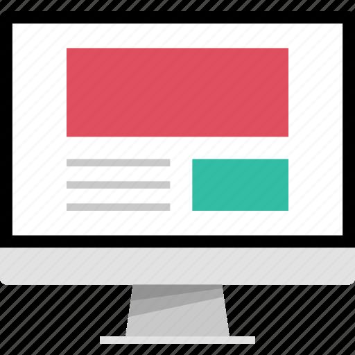 mockup, newsletter, online, web icon