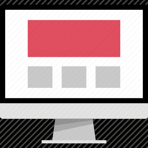 mockup, online, three, web icon