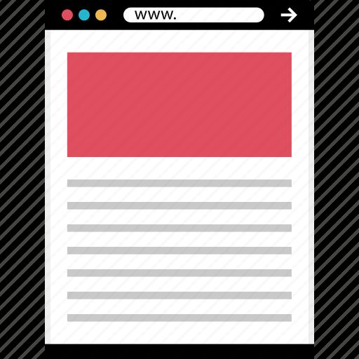 mockup, news, online, top, web icon