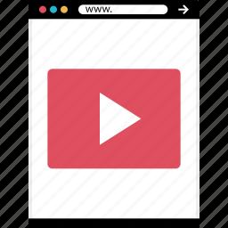 mockup, news, online, tube, web icon