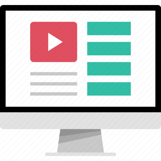 list, mockup, online, web, youtube icon
