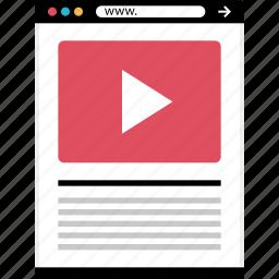 mockup, online, tube, web, webpage icon