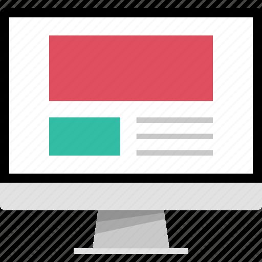 mockup, online, web, webpage icon