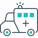 ambulance, car, mode, of, transport icon