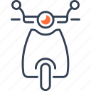bike, mode, of, scooter, transport icon