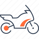 bike, mode, of, sport, transport icon