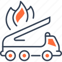 fire, mode, of, transport, truck