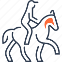 horse, jockey, mode, of, transport icon